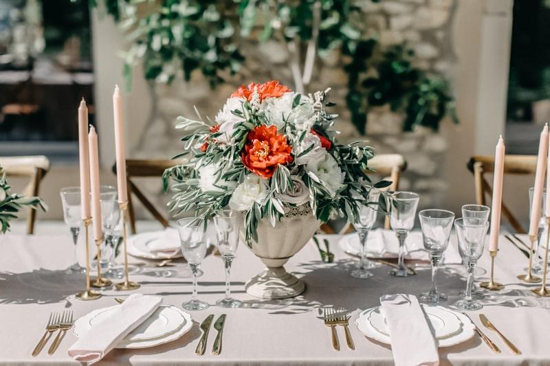 draußen Essen Hochzeit